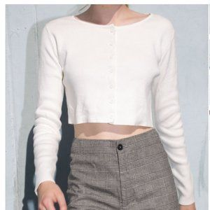Brandy Melville Button Up White Long Sleeve